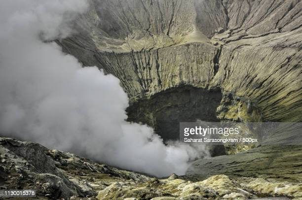 mt bromo's crater - bromo crater stock pictures, royalty-free photos & images
