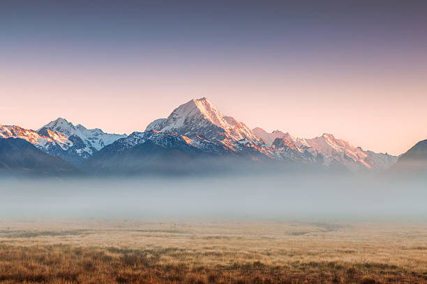 Mt Cook Emerging From Mist At Dawn, New Zealand Wall Art