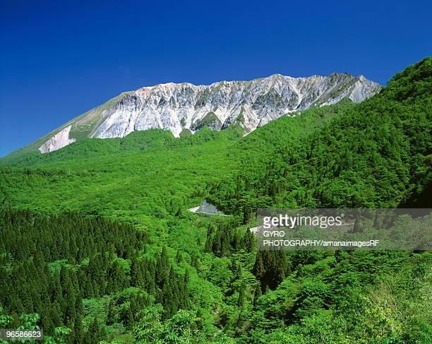 mt. daisen, kofu town, tottori prefecture, japan - tottori prefecture stock photos and pictures