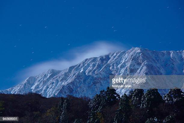 mt daisen. - tottori prefecture stock photos and pictures