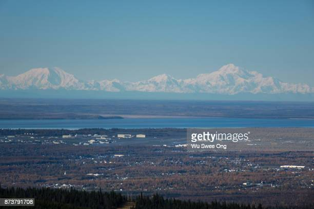Mt Denali and Alaska Range from Anchorage