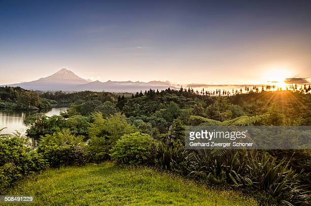 Mt. Egmont, Mt. Taranaki, currently an inactive volcano, North Island, New Zealand
