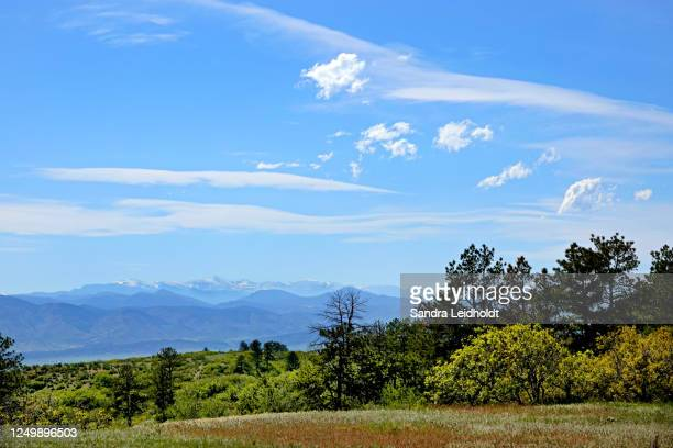 mt evans and the front range of the rocky mountains of colorado - foothills stock pictures, royalty-free photos & images