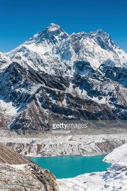 Mt Everest above Gokyo Lake Himalayas Nepal