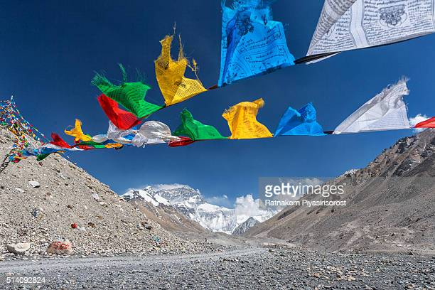 mt. Everest and Holy Flags