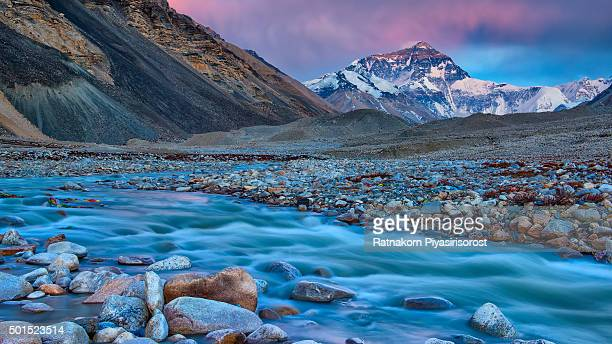 mt. Everest from Everest Base Camp, Tibet, China