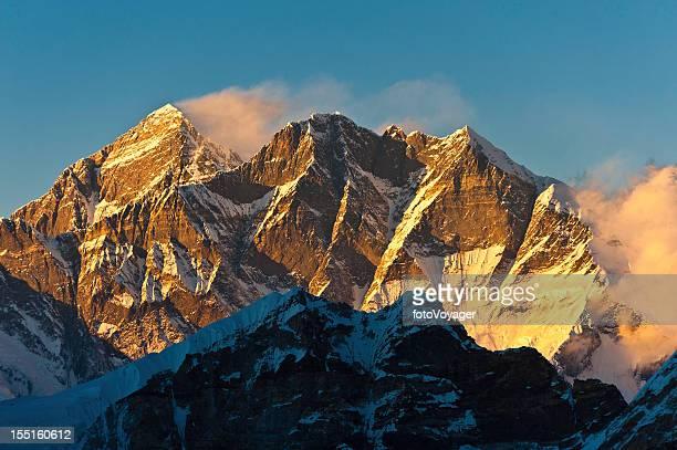 Mt Everest golden sunset Himalayas Nepal
