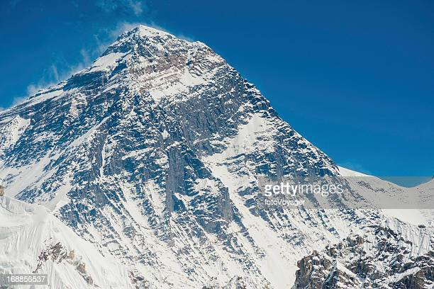 Mt Everest summit and South Col Himalayas Nepal