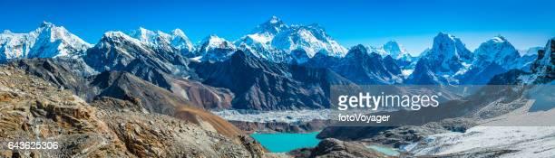Mt Everest towering over Himalaya mountain range panorama Nepal