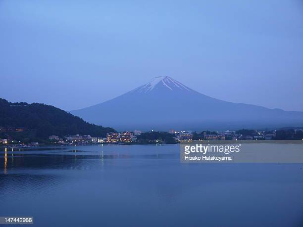 mt. fuji after sunset - after stock photos and pictures