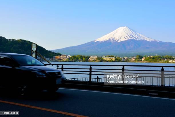 Mt Fuji and car