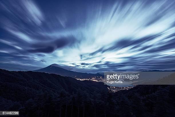 Mt. Fuji and Dramatic Sky