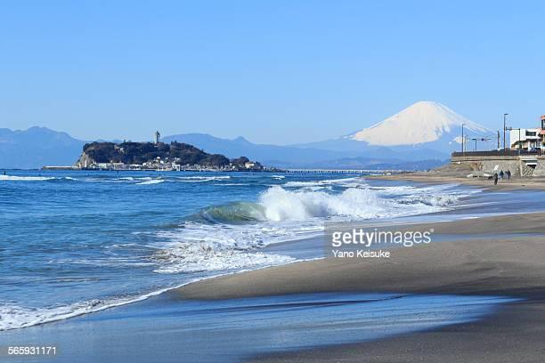 Mt. Fuji and Enoshima Island