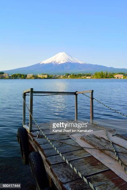 Mt Fuji and jetty