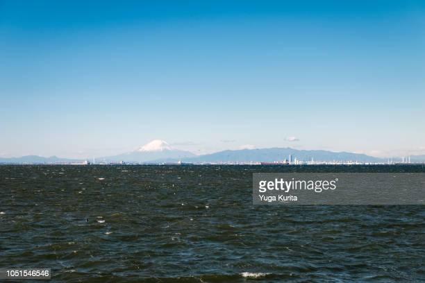 Mt. Fuji and the Yokohama Skyline over the Tokyo Bay