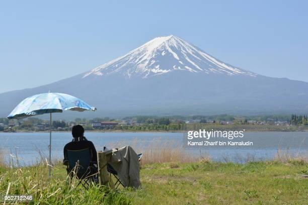 Mt Fuji and visitor