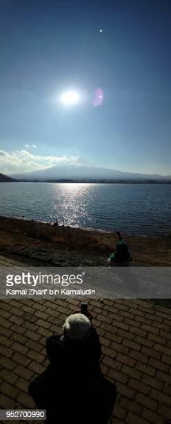 Mt Fuji and visitors