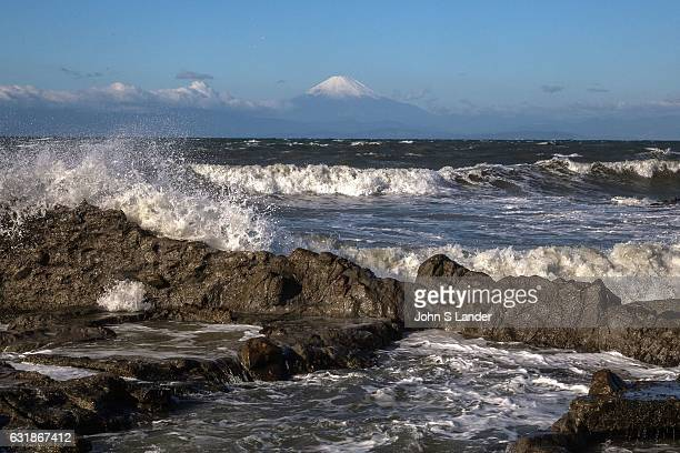 Mt Fuji at Shonan Beach Mount Fuji or Fujisan as it is called in Japan is the mountain with the highest altidude in Japan and is classified as an...
