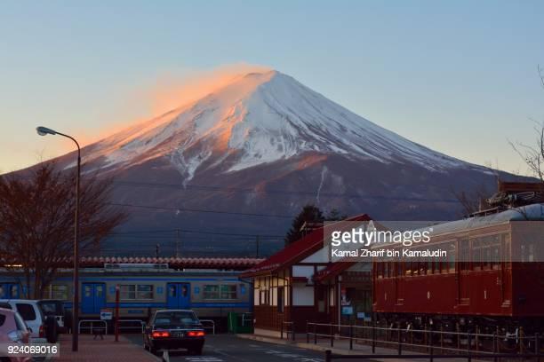 Mt Fuji at train station