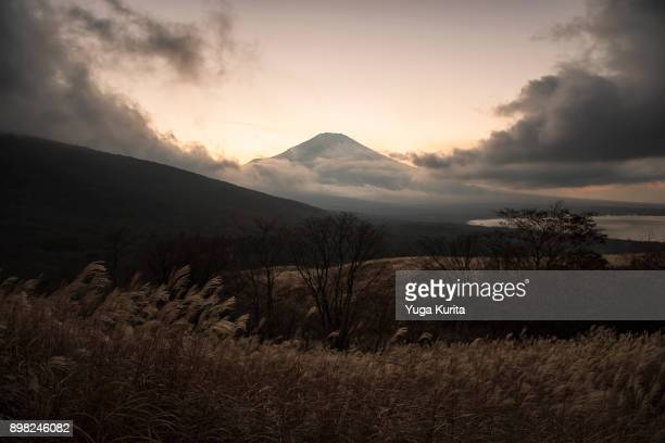 Mt. Fuji Emerging from the Clouds