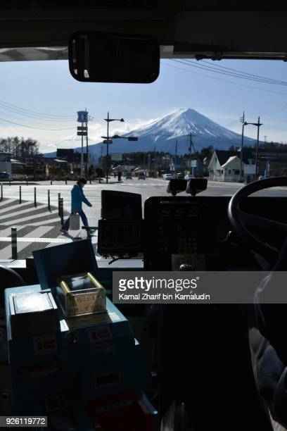 Mt Fuji from a bus