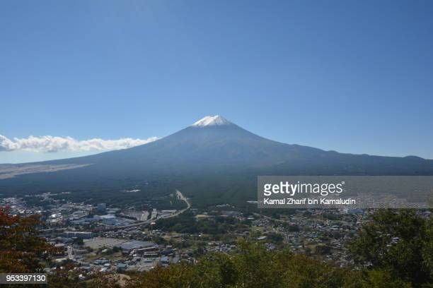Mt Fuji from aerial view