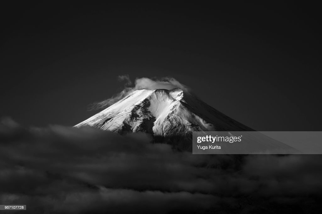 Mt. Fuji from Fujiyoshida : Stock Photo