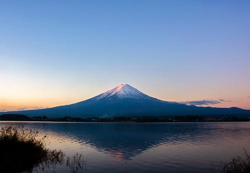 Mt. Fuji from Kawaguchiko lake. - gettyimageskorea