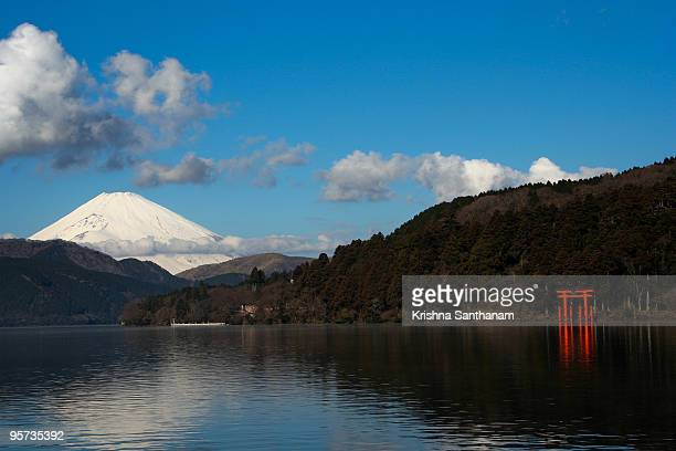 Mt Fuji from Lake Ashi in Hakone National Park