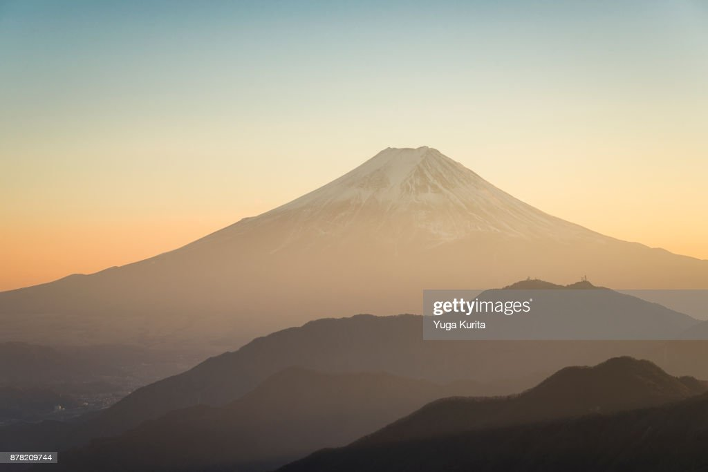 Mt. Fuji from Mt. Gangaharasuri-yama : Stock Photo
