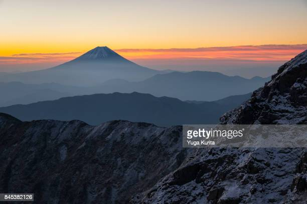 Mt. Fuji from Mt. Kitadake