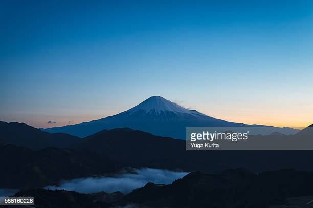 Mt. Fuji from Shimizu Yoshiwara at Dawn
