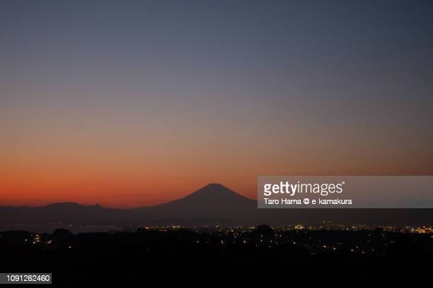 Mt. Fuji in Japan after the sunset