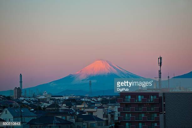 Mt. Fuji in Red