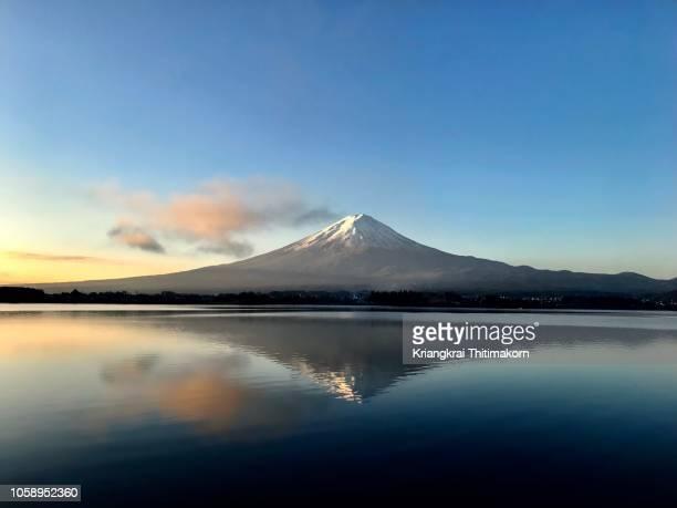 Mt. Fuji in the morning.