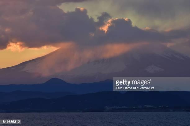 Mt. Fuji in the sunset