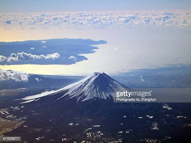 mt, fuji in winter, world heritage - mt fuji stock photos and pictures