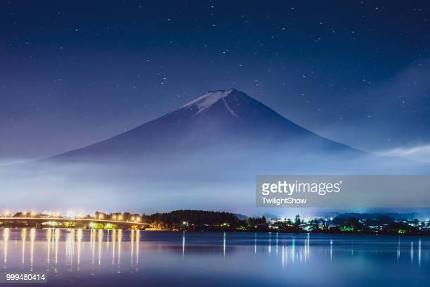 Mt. Fuji Japan Mountain Night Starry Sky Milky Way