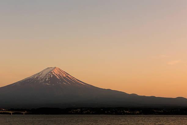 Mt. Fuji of evening glow, kawaguchiko