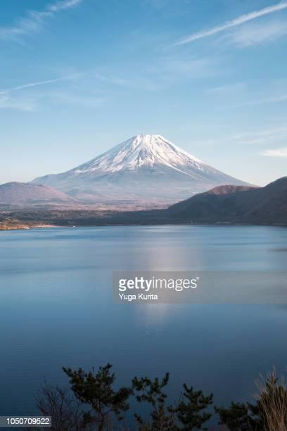 Mt. Fuji over a Foggy Lake