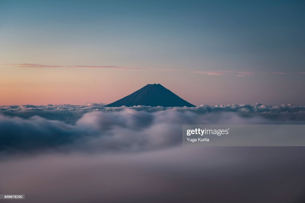 Mt. Fuji over a Sea of Clouds : Stock Photo