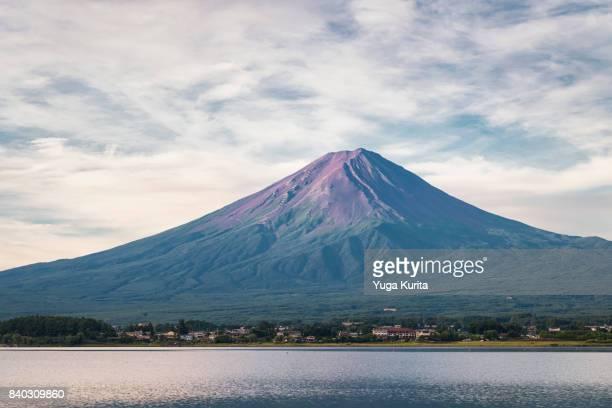 Mt. Fuji over Lake Kawaguchi in Summer