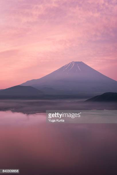 Mt. Fuji over Lake Motosu at Dawn