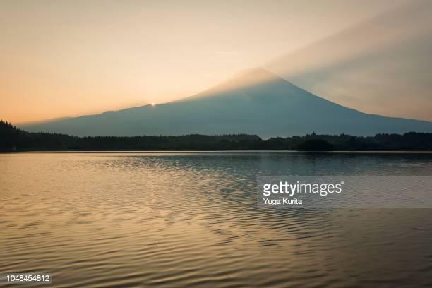 Mt. Fuji over Lake Tanuki in Summer