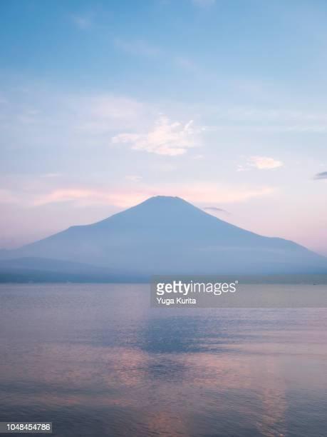 Mt. Fuji over Lake Yamanaka in Summer