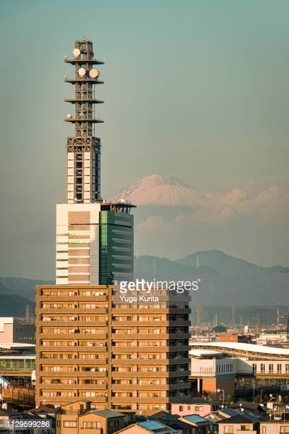 Mt. Fuji over the Central Part of Shizuoka City