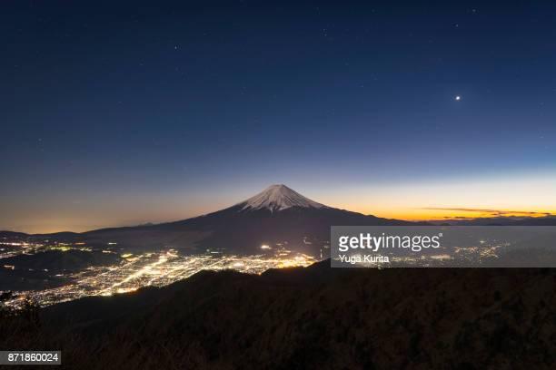 Mt. Fuji over the Illuminated City