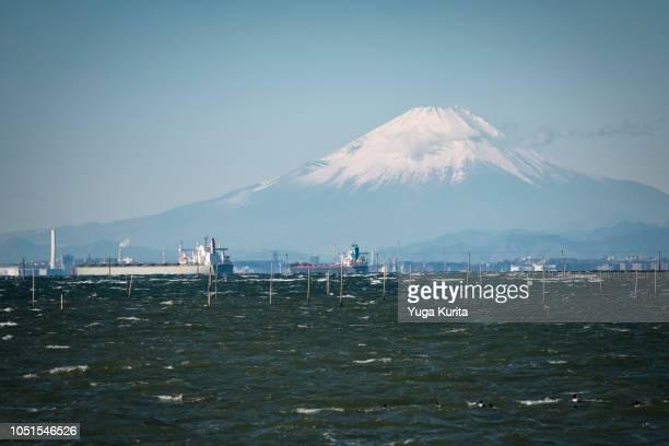 Mt. Fuji over the Tokyo Bay