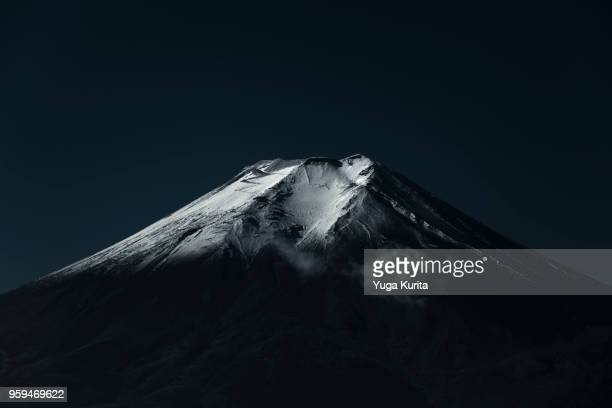 mt. fuji - black and white nature stock pictures, royalty-free photos & images