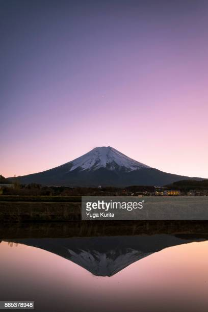 Mt. Fuji Reflected in a Water-Filled Empty Rice Field